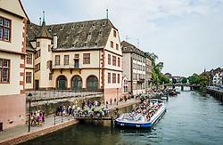 Please boats on the river Ill in Strasbourg, France<br /> <br /> (c) Andrew Wilson   Edinburgh Elite media