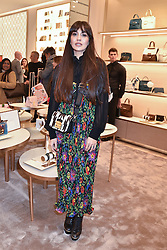 Zara Martin at a party to celebrate the launch of the new Furla Flagship store, 71 Brompton Road, London England. 2 February 2017.