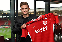 Jamie Paterson poses at Ashton Gate Stadium after joining Bristol City from Nottingham Forest - Mandatory by-line: Joe Meredith/JMP - 27/08/2016 - FOOTBALL - Ashton Gate Stadium - Bristol, England - Bristol City New Signings