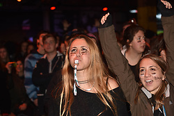 June 24, 2017 - Auckland, New Zealand - All Blacks fans react while watching the match from big screen at waterfront fanzone during the first test match between the New Zealand All Blacks  and the British and Irish Lions at Eden Park, Auckland, New Zealand on June 24, 2017. The British and Irish Lions are a composite team selected from players representing the national teams of England, Ireland, Scotland or Wales, They play against New Zealand every 12 years. The lions lost to New Zealand 30-15 (Credit Image: © Shirley Kwok/Pacific Press via ZUMA Wire)