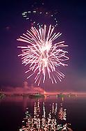 7/9/2013<br /> Fireworks over the harbor, Vinalhaven, Maine.