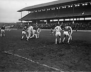 15/02/1970<br /> 02/15/1970<br /> 15 February 1970<br /> National Hurling League: Cork v Dublin at Croke Park, Dublin. <br /> S. Barry makes an effort to raise a goal, but Dublin defence put this one out of his reach.