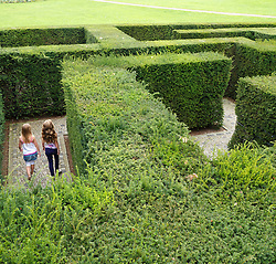 Maze at Garten der Welt or Gardens of the World park in Marzahn in Berlin Germany