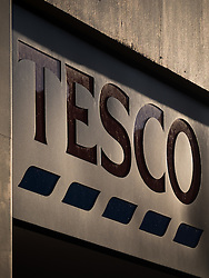 © Licensed to London News Pictures. 05/10/2016. Portsmouth, Hampshire, UK.  A general view of a Tesco Express sign in Portsmouth this morning. Tesco PLC, Britain's largest supermarket chain has announced that like-for-like sales had grown in the first half of its financial year. The results come following increased competition in the market from budget supermarkets such as Aldi & Lidl. Photo credit: Rob Arnold/LNP