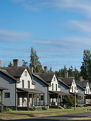 North America, United States, Washington, Port Townsend. Houses in Fort Worden State Park
