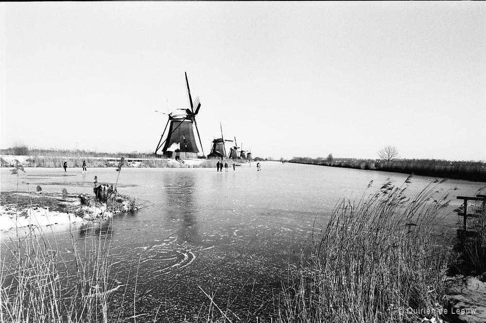 Hollands winterlandschap en natuurijs, Alblasserdam