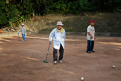 Residents enjoy outdoor recreation. Staying active and social are essential to residents of Ogimi, Okinawa.