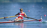 Banyoles, SPAIN, BRONZE Medalist,  CAN W1X SILKEN LAUMANN,  competing in the 1992 Olympic Regatta, Lake Banyoles, Barcelona, SPAIN.    [Mandatory Credit: Peter Spurrier: Intersport Images]