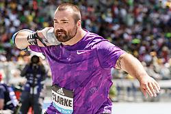 adidas Grand Prix Diamond League Track & Field: mens shot put, Jordan Clarke, USA, Nike