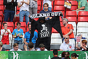 Charlton fan dressed as the grim reaper during the Sky Bet Championship match between Charlton Athletic and Burnley at The Valley, London, England on 7 May 2016. Photo by Matthew Redman.