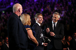 Billy Monger is interviewed by Gary Lineker during the BBC Sports Personality of the Year 2018 at Birmingham Genting Arena.