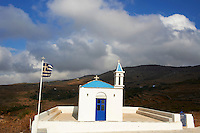 Grece, Cyclades, ile de Tinos, eglise Agia Marina // Greece, Cyclades islands, Tinos, Agia Marina church