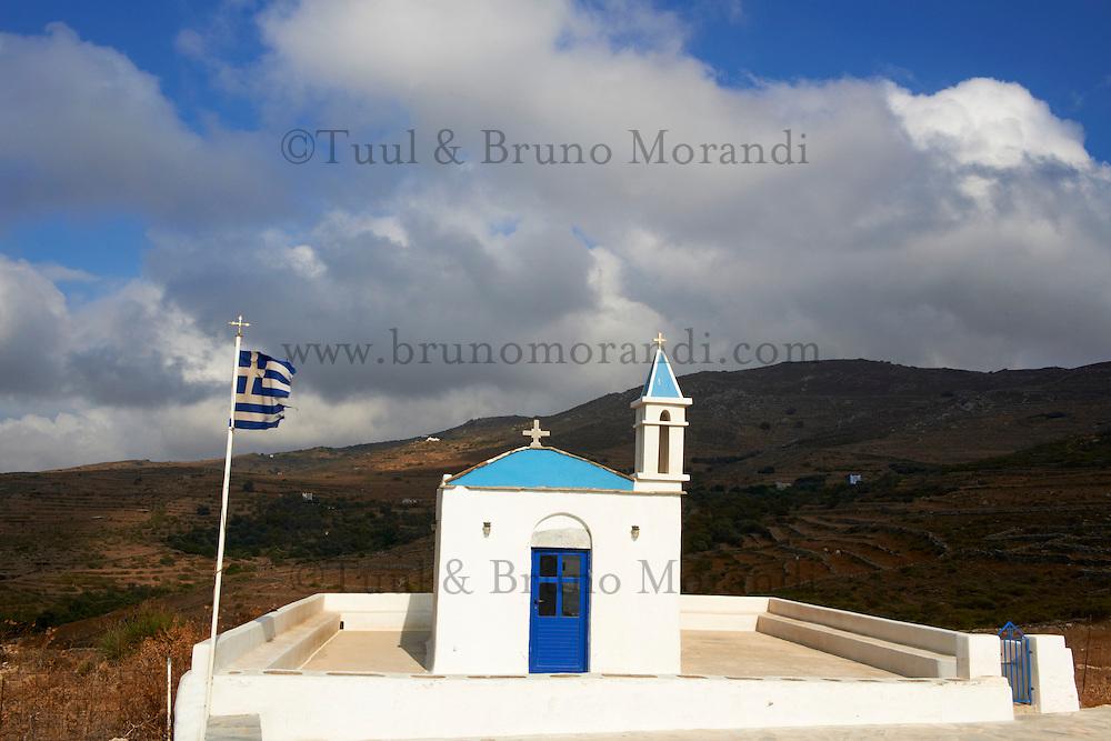 Grece, Cyclades, ile de Tinos, eglise Agia Marina // Greece, Cyclades islands, Tinos, Agia Marina church