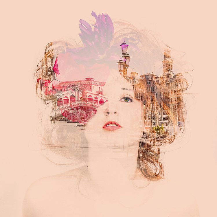 Photography: Color, Digital on Aluminium.<br /> <br /> Technique: double exposure<br /> <br /> During Coronavirus lockdown in Venice I was astonished by the beauty of the city, a new beauty, a new city to my eyes. I tried to work to create a multiple exposure portrait of an elegant lady, young, over iconic buildings of the city. A re-born in a re-gained beauty!<br /> <br /> PRICE: 550,00 € <br /> Shipping included<br /> 7 day money-back guarantee<br /> <br /> <br /> Keywords:<br /> <br /> photography<br /> portrait<br /> woman<br /> Venice<br /> Rialto<br /> double<br /> exposure<br /> flowers<br /> girl<br /> Subjects:<br /> <br /> Portrait<br /> Styles:<br /> <br /> Fine Art<br /> Minimalism<br /> Portraiture<br /> Mediums:<br /> <br /> Color<br /> Photo<br /> Digital<br /> Materials:<br /> <br /> Aluminium<br /> Other<br /> Photography, 60 H x 60 W x 1 cm<br /> Printed on Dibond<br /> Worldwide shipped