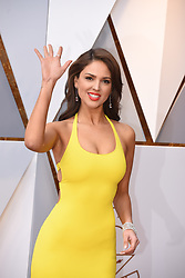 March 4, 2018 - Los Angeles, California, U.S. - EIZA GONZALEZ, wearing a Ralph Lauren gown, arrives on the red carpet for the 90th Annual Academy Awards at the Dolby Theatre. (Credit Image: © Kevin Sullivan via ZUMA Wire)
