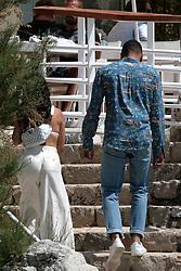 Kourtney Kardashian and Younes Bendjima in Cannes. 24 May 2017 Pictured: Kourtney Kardashian and Younes Bendjima. Photo credit: Vecio / MEGA TheMegaAgency.com +1 888 505 6342