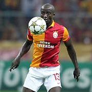 Galatasaray's Dany Nounkeu during their UEFA Champions League Group H matchday 2 soccer match Galatasaray between Braga at the TT Arena Ali Sami Yen Spor Kompleksi in Istanbul, Turkey on Tuesday 02 October 2012. Photo by Aykut AKICI/TURKPIX