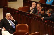 """Ariel """"Arik"""" Sharon at the Knesset. 7.1.04"""