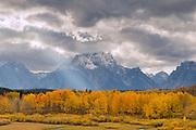 Mount Moran and Sunray in Fall, Grand Teton National Park, Wyoming