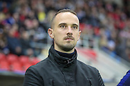 Mark Sampson (England) before the Euro 2017 qualifier between England Ladies and Belgium Ladies at the New York Stadium, Rotherham, England on 8 April 2016. Photo by Mark P Doherty.