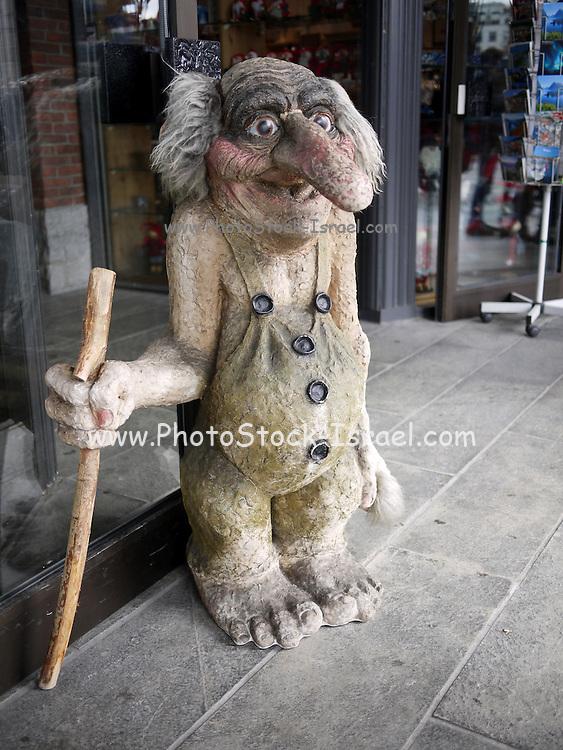 Bergen, Norway a statue of a troll