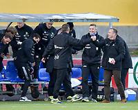 Fotball , 02. mai 2016 ,  Tippeligaen , Eliteserien ,<br /> Bodø Glimt - Sarpsborg 08<br /> Geir Bakke, Sarpsborg 08,feiring