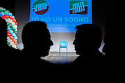"""""""Nobody touches Silvio"""" convention of the movement """"Silvio's Army"""" in support of Berlusconi leadership, at Orione teathre. Roma, 16 November 2013. Christian Mantuano / OneShot"""