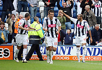 Photo: Rich Eaton.<br /> <br /> West Bromwich Albion v Leeds United. Coca Cola Championship. 30/09/2006. Diomany Kamara  #15 centre celebrates scoring for West Brom
