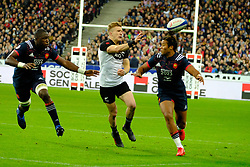 November 11, 2017 - Saint Denis, Seine Saint Denis, France - New Zealand team Wing DAMIAN MCKENZIE in action during the friendly match between France and New Zealand at the Stade de France - St Denis - France.New Zealand beats France 38-18 (Credit Image: © Pierre Stevenin via ZUMA Wire)