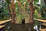 SPAIN, ANDALUSIA, SEVILLE Alcazar; gardens with fountains