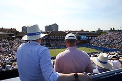 General view of Great Britain's Andy Murray serves during his match against Australia's Jordan Thompson during day two of the 2017 AEGON Championships at The Queen's Club, London.