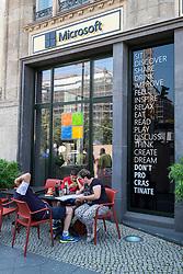 new Microsoft Digital Eatery cafe on Unter den Linden in Berlin Germany