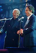 Nelson Mandela and Tony Blair - Trafalger Square - London 2001