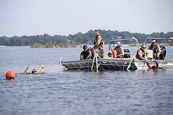 July 20, 2017 - White Bear Lake, MN - Minnesota, USA - The Ramsey County Sheriff's Office Dive Team and the Navy Explosive Ordinance Disposal divers place airbags around a car that was placed in 12 feet of water during training as a part of Navy Week in Minnesota Thursday July 20, 2017 in White Bear Lake, MN. The training took place new Ramsey Beach. ] JERRY HOLT • jerry.holt@startribune.com (Credit Image: © Jerry Holt/Minneapolis Star Tribune via ZUMA Wire)