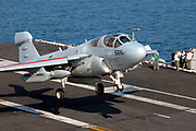 EA-6B Prowler trapping on carrier