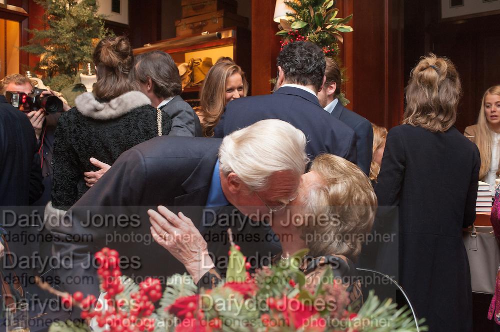 LORD HESELTINE;  LADY PAMELA HICKS; , Book launch for ' Daughter of Empire - Life as a Mountbatten' by Lady Pamela Hicks. Ralph Lauren, 1 New Bond St. London. 12 November 2012.