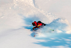 Getting a little of the Steep and Deep power of Jackson Hole.  Teton Pass west of town is a powder stash to die for and some do.