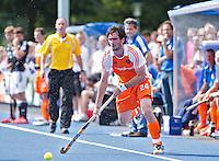 UTRECHT - Robert van der Horst van Oranje , zaterdag tijdens de  hockey interland tussen de mannen van Nederland en Duitsland (4-2). COPYRIGHT KOEN SUYK