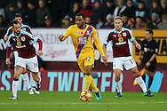 Jason Puncheon of Crystal Palace (c) in action. Premier League match, Burnley v Crystal Palace at Turf Moor in Burnley , Lancs on Saturday 5th November 2016.<br /> pic by Chris Stading, Andrew Orchard sports photography.