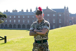 Simon Brogan. Feature on the Army's new Foxhound light mechanised infantry vehicles at Fort George army barracks, before they leave on convoy for England, before going into active service.