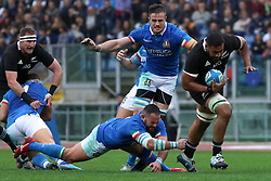 November 24, 2018 - Rome, Rome, Italy - Simone Ferrari, Abraham Jurgens Steyn and Patrick Tuipulotu during the Test Match 2018 between Italy and New Zealand at Stadio Olimpico on November 24, 2018 in Rome, Italy. (Credit Image: © Emmanuele Ciancaglini/NurPhoto via ZUMA Press)