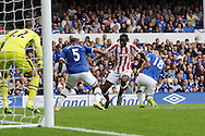 Gianelli Imbula of Stoke City breaks into the penalty area. Premier league match, Everton v Stoke city at Goodison Park in Liverpool, Merseyside on Saturday 27th August 2016.<br /> pic by Chris Stading, Andrew Orchard sports photography.