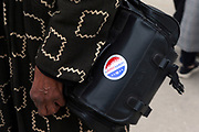 NEW YORK, NEW YORK: OCTOBER 24, 2020- Early Voting opens in New York City with anticipated large crowds waiting in lines for sometimes two or more hours to cast their votes at the Brooklyn Museum on October 24, 2020 in Brooklyn, New York.  (Photo by Terrence Jennings/terrencejennings.com)
