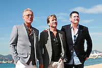 Martin Kemp, Steve Norman and Tony Hadley at the photocall for the film Soul Boys of the Western World with Spandau Ballet at the 67th Cannes Film Festival, Friday 16th May 2014, Cannes, France.