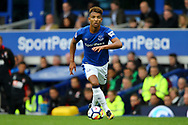 Mason Holgate of Everton in action. Premier league match, Everton vs Bournemouth at Goodison Park in Liverpool, Merseyside on Saturday 23rd September 2017.<br /> pic by Chris Stading, Andrew Orchard sports photography.