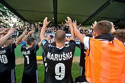 Team of NS Mura with fans after football match between NS Mura and NK Triglav Kranj in 1st Round of Prva liga Telekom Slovenije 2018/19, on July 21, 2018 in Mestni stadion Fazanerija, Murska Sobota , Slovenia. Photo by Mario Horvat / Sportida