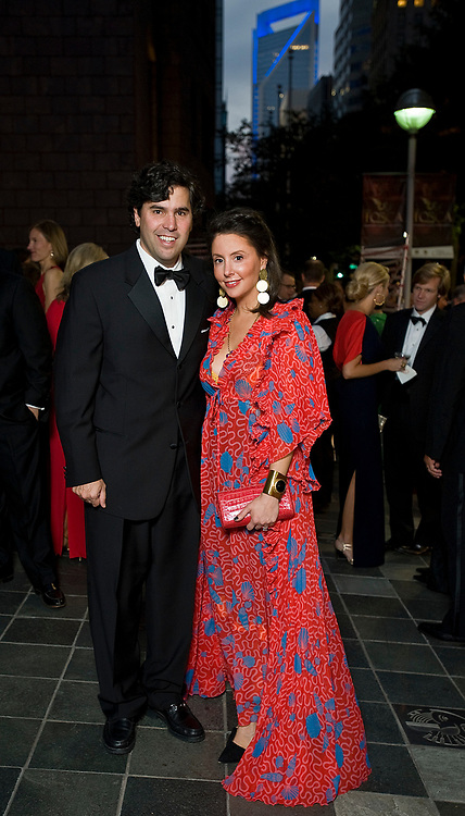 Todd and Alexandra Holleman at Opera Carolina's annual Bella Notte fundraising gala Saturday, Oct. 20, 2012, in Charlotte, NC. Holleman wore a vintage gown by Zandra Rhodes. Photo by Wendy Yang Photography