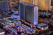 Aerial view of Bally's Hotel the Strip, Las Vegas, Nevada, USA