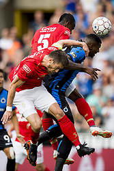 July 22, 2018 - Brugge, Belgium - Standard's UCHE AGBO and Club's WESLEY MORAES fight for the ball during the Super Cup match between Club Brugge and Standard de Liege, the champions of the Jupiler Pro League and the Belgian Cup, respectively. (Credit Image: © Jasper Jacobs/Belga via ZUMA Press)