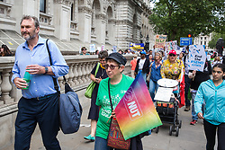London, UK. 30 May, 2019. Kevin Courtney, Joint General Secretary of the National Education Union (NEU), marches with campaigners from SEND National Crisis to Parliament Square during a demonstration to demand improvements in the diagnosis and assessment of young people with SEND, assistance for their families, funding and legal and financial accountability for local authorities in their treatment of young people with SEND and their families.